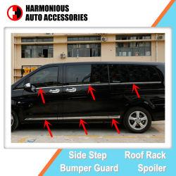 Acessório de auto peças de automóvel friso de porta lateral cromada e molduras da janela para a Mercedes Benz Vito