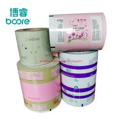 Pochette de plastification de gros rouleau de film pour bébé lingettes humides