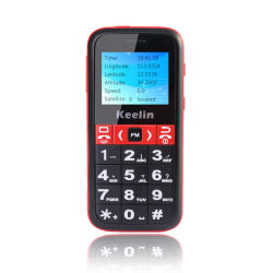 Senior téléphone avec GPS de suivi de localisation en temps réel, Big Font/voix plus forte/Big Clavier K20