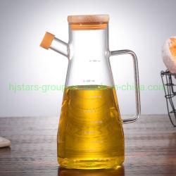 Fait main bouteille en verre borosilicaté élevé pour l'huile d'olive