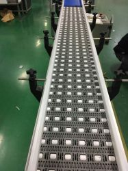 깡통 컨베이어에 사용되는 철망사 체인 연결 격판덮개 컨베이어 벨트