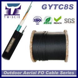 4つのコア光ファイバケーブルGYTC8Sは空気の使用のためのケーブルを自己サポートする
