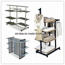 Suporte de monitor de roupa com 6 prateleiras de vidro prateleiras de combinação (AD-130718)