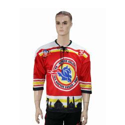 Camiseta de Hockey de la sublimación de la Juventud equipo personalizado en blanco Hockey Jersey