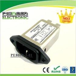 3A 120 فولت / 250 فولت، فلتر مقبس التيار المتردد الكهربائي IEC PE8000-3-01
