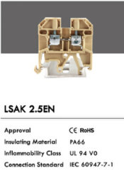 Type de vente chaude de l'économie des blocs de jonction LSAK Lsak 2.5En (2.5EN)