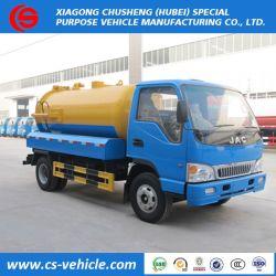 أسعار منخفضة JAC 4X2 شاحنة سحب مياه الصرف الصحي 6000لتر لأوزبكستان