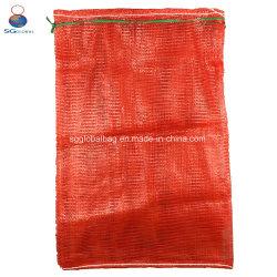 SGS marcação FDA durável de batata cebola lenha Vegetal Seafood Embalagem embalagem de plástico PP Vegetais de gaze tubulares Saco de malha