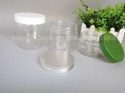 Le plastique large bouche jar pour l'emballage de bonbons (couvercle de vis en aluminium)
