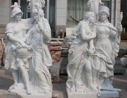 Decorazione del giardino della signora e del guerriero Marble Stone Sculpture Statue