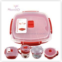 Sans BPA 1.32L cuiseur vapeur micro-ondes en plastique de qualité alimentaire