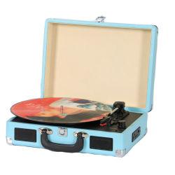 Draagbare VinylPlatenspeler, de AudioSpeler van de Draaischijf, de Draaischijf van de Koffer Bluetooth