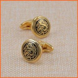 Custom Mode bijoux en métal les boutons de manchette en plaqué or