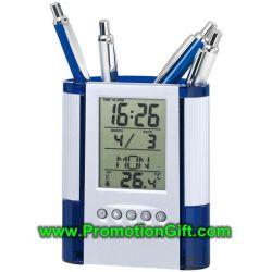 Relógio do calendário em acrílico de plástico personalizada caso das canetas