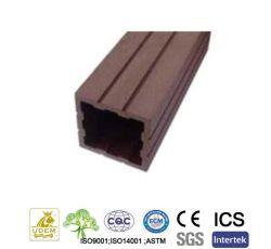 Valla de WPC al aire libre directo de fábrica de madera de plástico Post Baranda compuesta