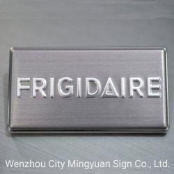 Kundenspezifisches dekoratives verpackenaufkleber geprägtes Metallfirmenzeichen 3D Frigidaire
