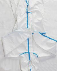 Одноразовые защитные комбинезонами надевайте защитную одежду, биологическую опасность костюмы, защитную одежду