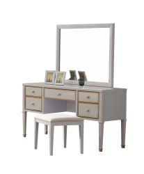 Chambre à coucher Mobilier de style de luxe commode avec miroir de coiffeuse en bois massif