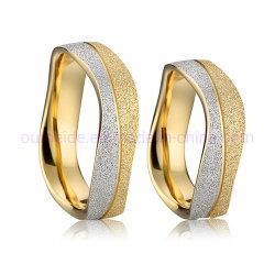 La mode 14k 18k Placage or laiton massif Bijouterie de fantaisie Bijoux de la bande de Mariage anneau en laiton