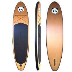 2021 supporto per tavola SUP gonfiabile a palette in stile legno di ultima generazione Su tavola di paddle Tavola gonfiabile della paddle di Bamboo Tavola della paddle