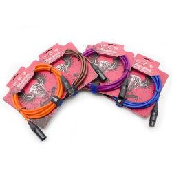 Transparente Flexível Audio Cabo de microfone 2 Core enrolamento blindado com isolamento de PVC Fio (FMC04)