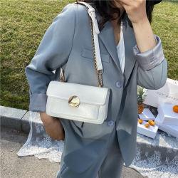 حقيبة جديدة من الملابس ذات قفل موضة وحقيبة يد بكتف واحدة مطبوعة سيدة بسيطة حقيبة PU للأكياس