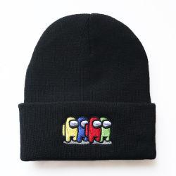 100% acrylique Design personnalisé cap bonnet chapeaux d'hiver de broderie