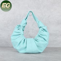 Sacchetto molle della nube del Hobo pieghettato piccola borsa del cuoio genuino delle donne dei sacchetti di spalla del sacchetto di modo Emg6254