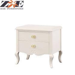 Un luxe moderne en bois massif et MDF High Gloss Peinture polyuréthane Table de chevet avec tiroirs