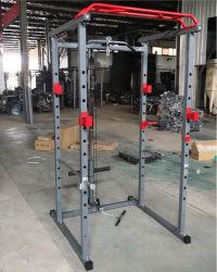 Accueil Salle de gym de l'équipement multi Station Smith Machine Banc de la cage d'alimentation Appuyez sur l'accroupissement Machine en rack