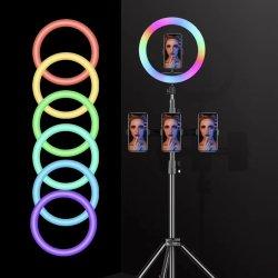 13 Polegadas Celular lâmpada LED Selfie Câmara Titular Ringlight Encha o anel de luz com tripé