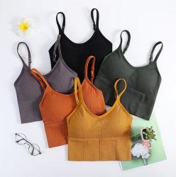 Neuer Art-Großverkauf-modales Frauen-Nackenband- mit Halterungaufgefülltes Büstenhalter-nahtloses Büstenhalter-kurz Trägershirt-Unterhemd
