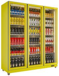 スーパー商品ガラスドアファン冷却ディスプレイ冷蔵庫飲料用クーラー