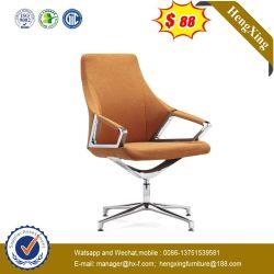 Ráfaga de base metálica de madera silla de cuero de PU Visitante Silla de oficina