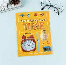 Los niños coloreando Adhesivo removible personalizado de impresión de libros de niños libro de dibujos animados para niños