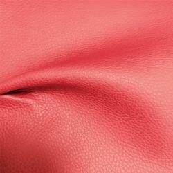 Peça de vestuário de tecido de couro PU/Stocklot 100% PU Faux couro sintético