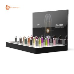 맞춤형 Affective Acrylic Electronic 담배 판촉용 디스플레이 랙 및 Vape CBD E-Juice 디스플레이 스탠드