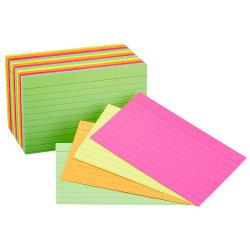 Büro-Leerseiten-beweglicher 3X5 Zoll 100 pro Satz sortierte Farben angeordnete gezeichnete grelle Indexkarten