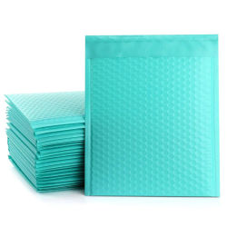 Venda por grosso de cor personalizada OEM próprio logotipo impresso e auto-adesivo Mailers Companhias Poli bolha verde Teal Envelopes acolchoados
