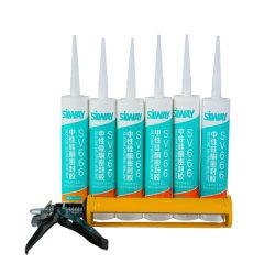 Sigillante siliconico neutro per impieghi generali da 300 ml, impermeabile, vetro, silicone Per adesivo neutro metallico per porte e finestrini