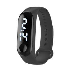 Deportes de moda Reloj Digital estuche de plástico de la banda de reloj de pulsera de silicona LED para regalo (JY-IS001)