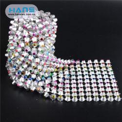 한스는 중국 신여자에서 만들어졌다 섹시 888 크리스탈 라인스톤 메시