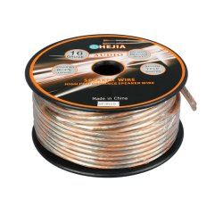 Transparente 16AWG Alambre de cobre OFC de altavoz con Conductor UL
