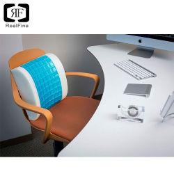 Kussen van de Lumbale Rug van het Schuim van het Geheugen van het Gel van de Pijn van de hulp het Ergonomische Koel met 3D Dekking van het Netwerk door de Vorm van D