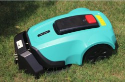 Roboter-Rasenmäher mit Bildschirm