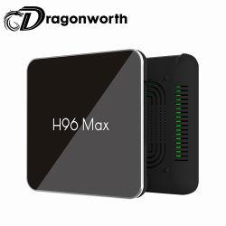 H96max X2のスマートなアンドロイド9.0 TVボックスAmlogic S905X2 Lpddr4 2GB Emmc 16GB USB3.0 4K H96の最大X2セットトップボックス