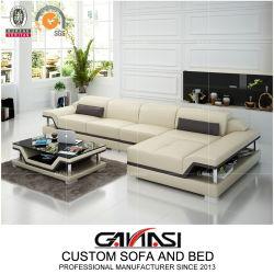 L-Shape de luxe en cuir canapé inclinable fixe pour les meubles de bureau (G8004C)