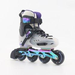 Em Linha Profissional unissexo patins Patins Sapatas Deslizantes Slalom Black Ice transparente