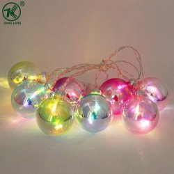 Neues der Farben-Glaskugel-LED Set Weihnachtszeichenkette-der Licht-8PCS