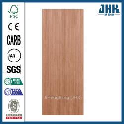 Natural de madera plana a ras de la puerta de chapa HDF moldeado de la piel (JHK-F01).